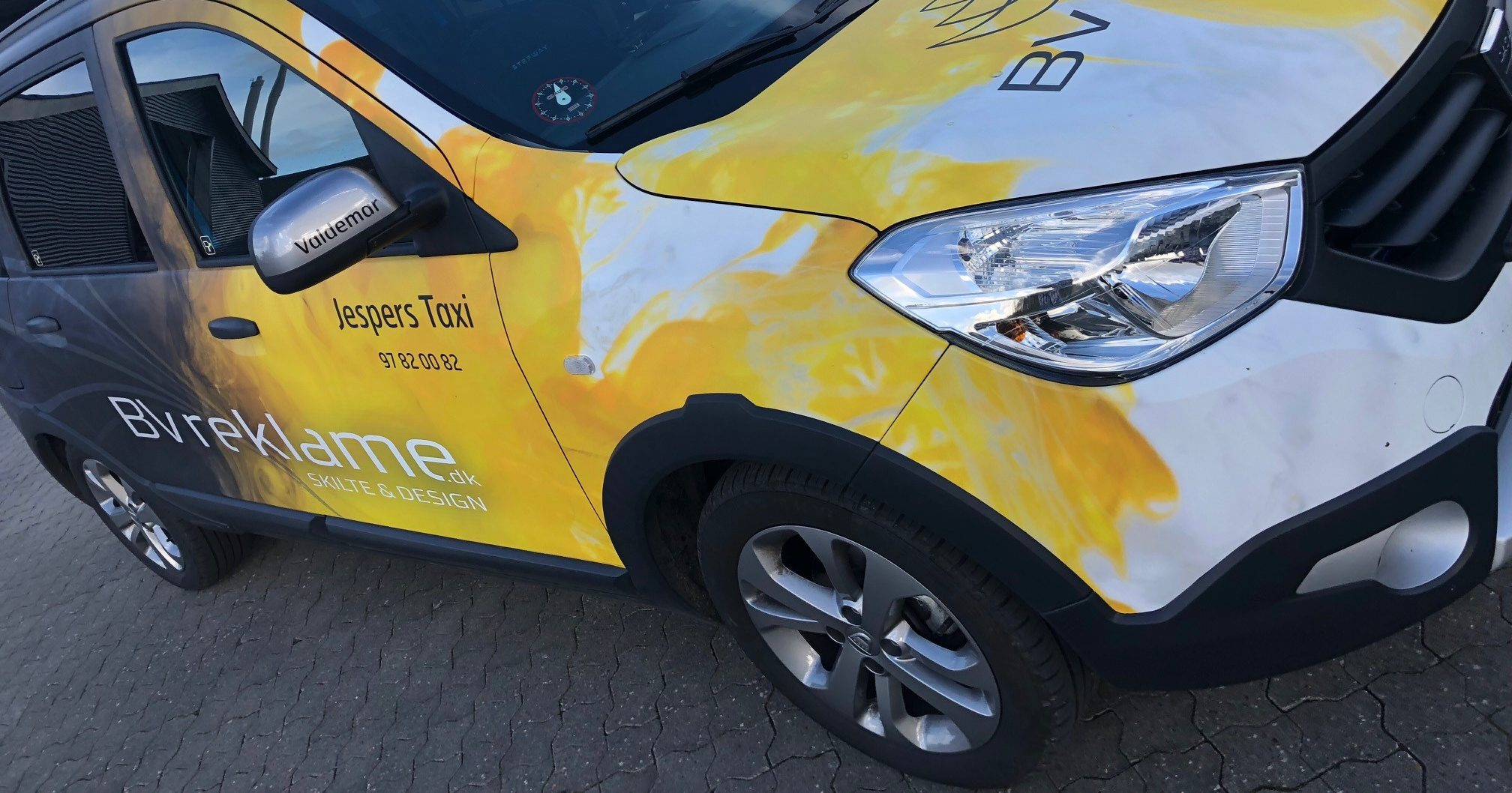BV reklame på taxi